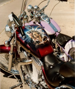 Harley1 rot airbrush regensburg