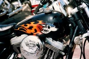 Harley2 blau2 airbrush regensburg schrötter