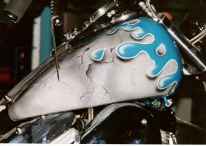 Tank Tropfen Harley airbrush regensburg schrötter